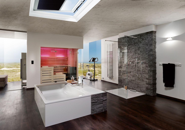 Glazen douchewand vrijstaand helder glas, glazen sauna afscheiding helder glas vast-deur-glas