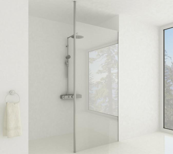 Glazen douchewand wandopstelling stabilisator vloer-plafond zoom