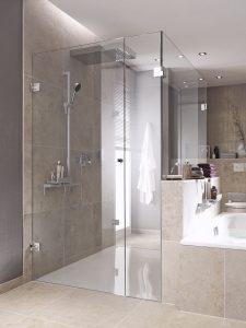 Glazen douchedeur glashelder veiligheidsglas met vaste wanden